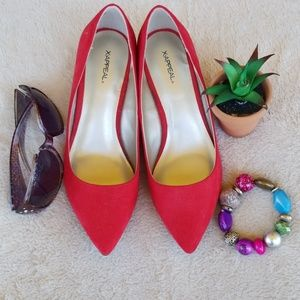 X.APPEAL Dorie Candy Red Heels